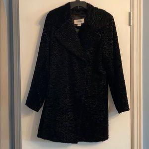 Calvin Klein vintage look black coat